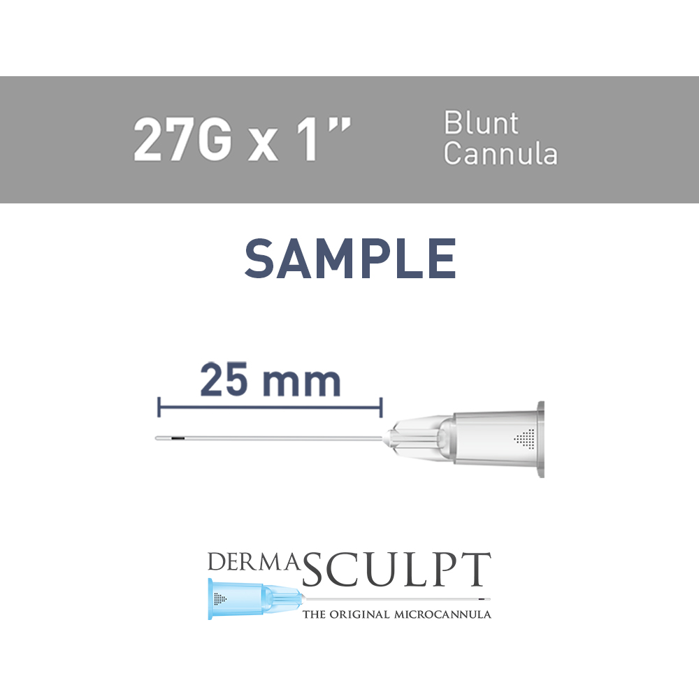 "Single  Cannula of 27G x 1"" (25mm)"
