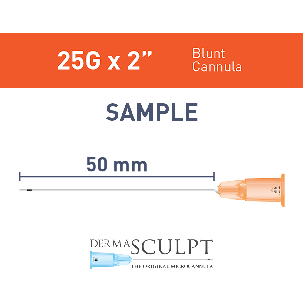 "Single  Cannula of 25G x 2"" (50mm)"